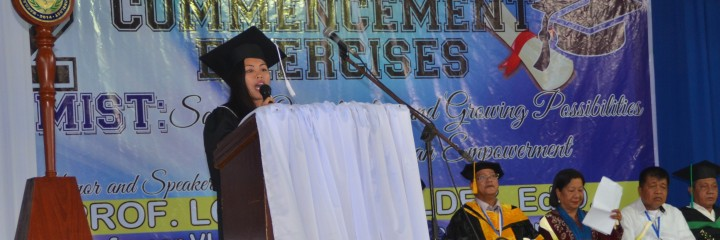 Address of petition delivered by Ms. Abegail Nacorda – a graduate of Diploma in Midwifery