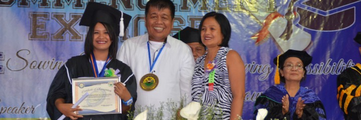 Message of Mayor Rudy Caoagdan to the graduates of MIST