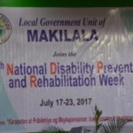 LGU MAKILALA SPEARHEADS ACTIVITIES FOR DISABILITIES PREVENTION AND REHABILITATION WEEK