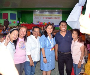 "North Cotabato Gov Emmylou ""Lala"" J. Taliño-Mendoza with Makilala Mayor Rudy Caoagdan during the opening of the 2016 National Women's Month Celebration of Makilala."