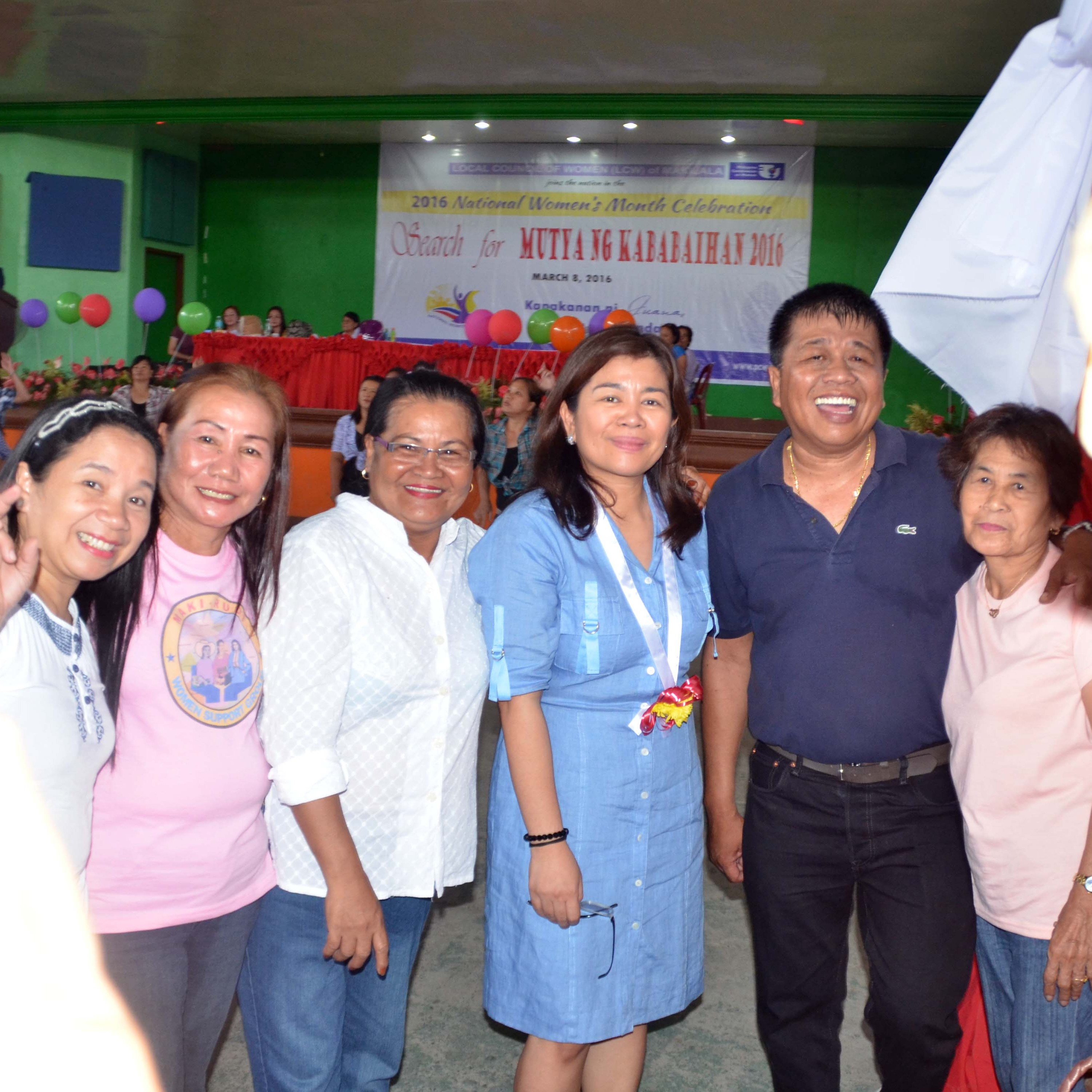 """North Cotabato Gov Emmylou """"Lala"""" J. Taliño-Mendoza with Makilala Mayor Rudy Caoagdan during the opening of the 2016 National Women's Month Celebration of Makilala."""